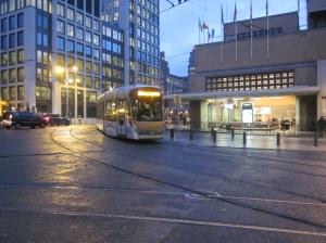 Tram at Midi Station